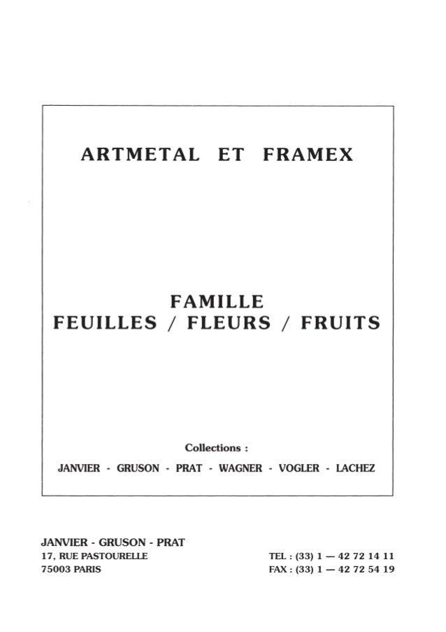 Feuilles fleurs fruits - Pièces estampées ARTMETAL FRAMEX
