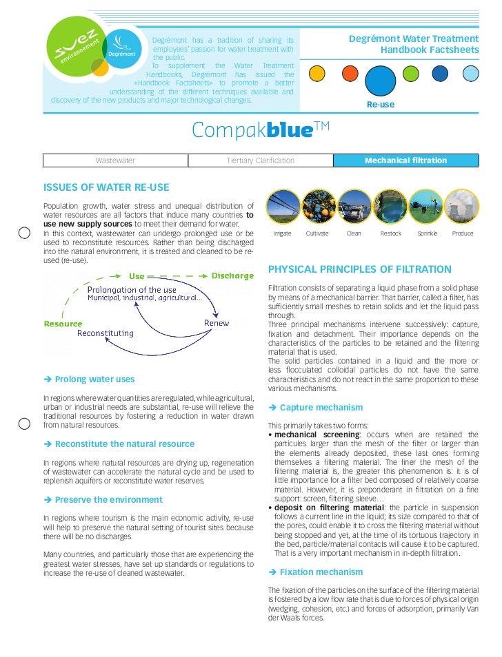Degrémont Water Treatment Handbook Factsheets N°2 - Compakblue