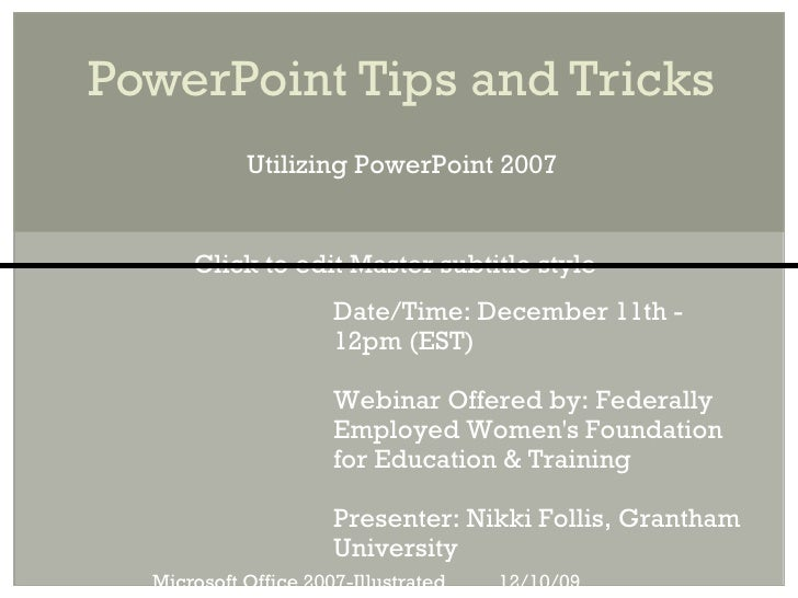 Few Power Point Webinar121109