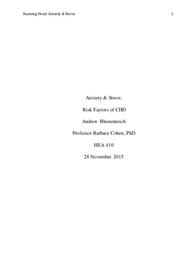 Stress research paper