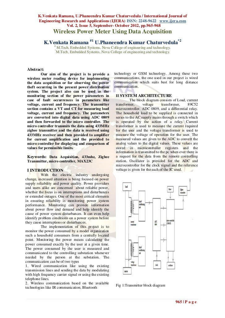 K.Venkata Ramana, U.Phaneendra Kumar Chaturvedula / International Journal of        Engineering Research and Applications ...