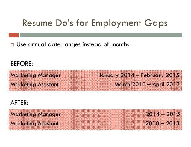 Gaps ...  Gap In Employment