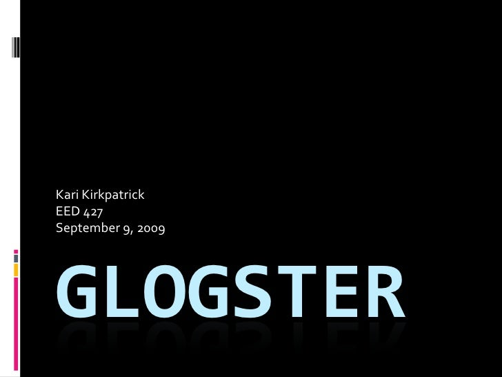 427 Show and Tell Glogster
