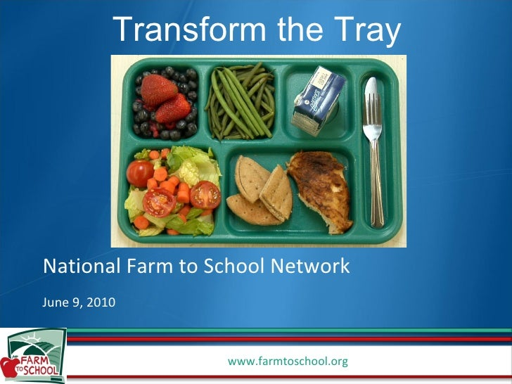 National Farm to School Network June 9, 2010 Transform the Tray