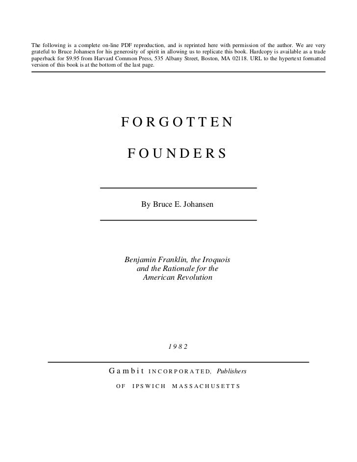 FOREGOTTEN FOUNDERS