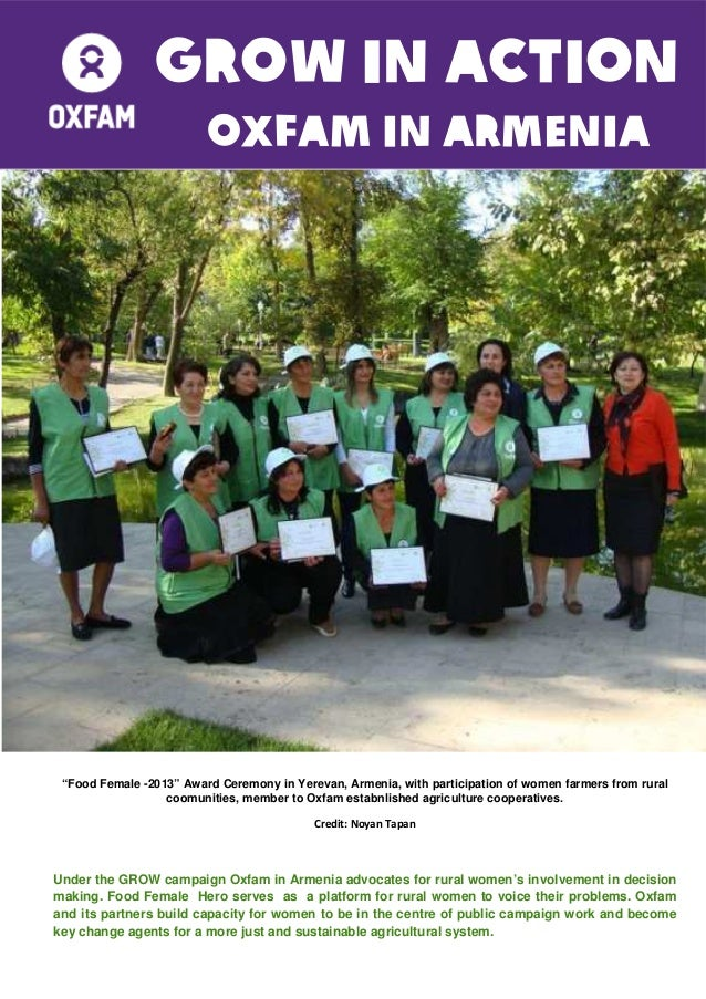 """GROW in ACTION OXFAM IN Armenia  """"Food Female -2013"""" Award Ceremony in Yerevan, Armenia, with participation of women farme..."""