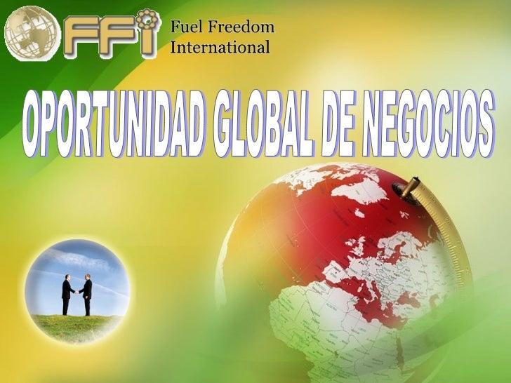 OPORTUNIDAD GLOBAL DE NEGOCIOS