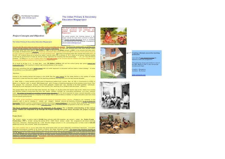 The Indian Primary And Secondary Education Megaproject Excel Motherfile