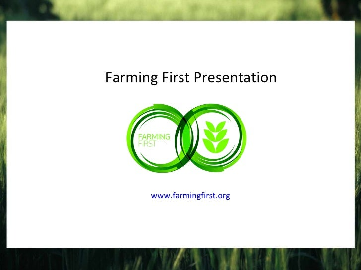 Farming First presentation
