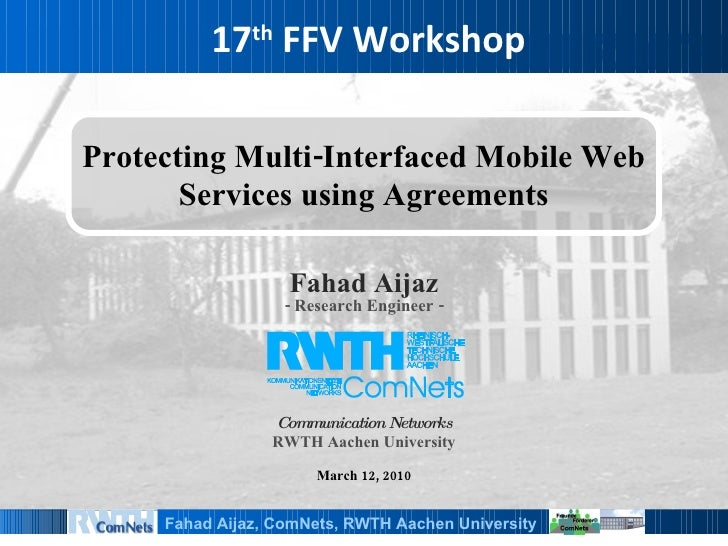 Protecting Multi-Interfaced Mobile Web Services using Agreements
