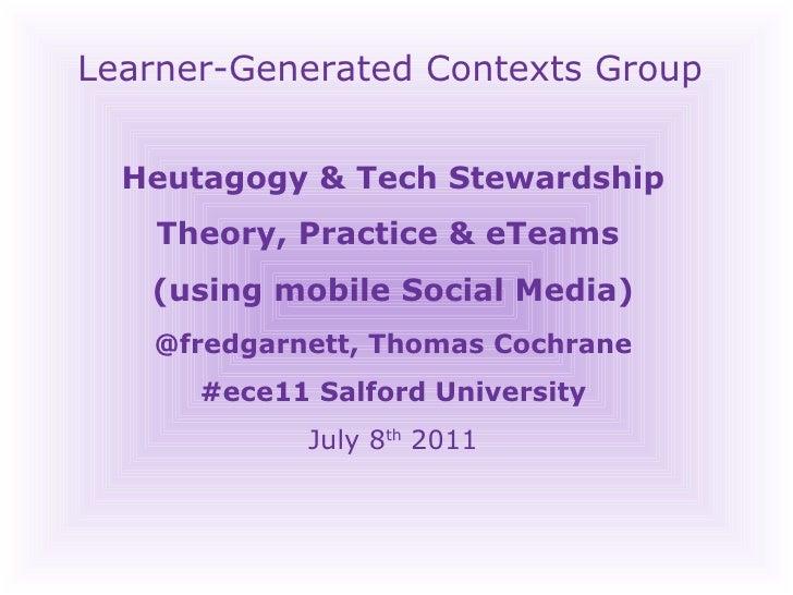 Heutagogy & Technology Stewardship