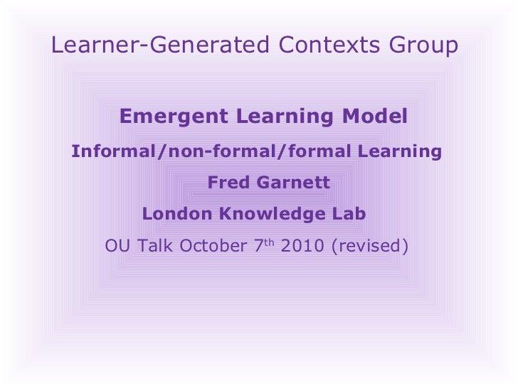 Emergent Learning Model