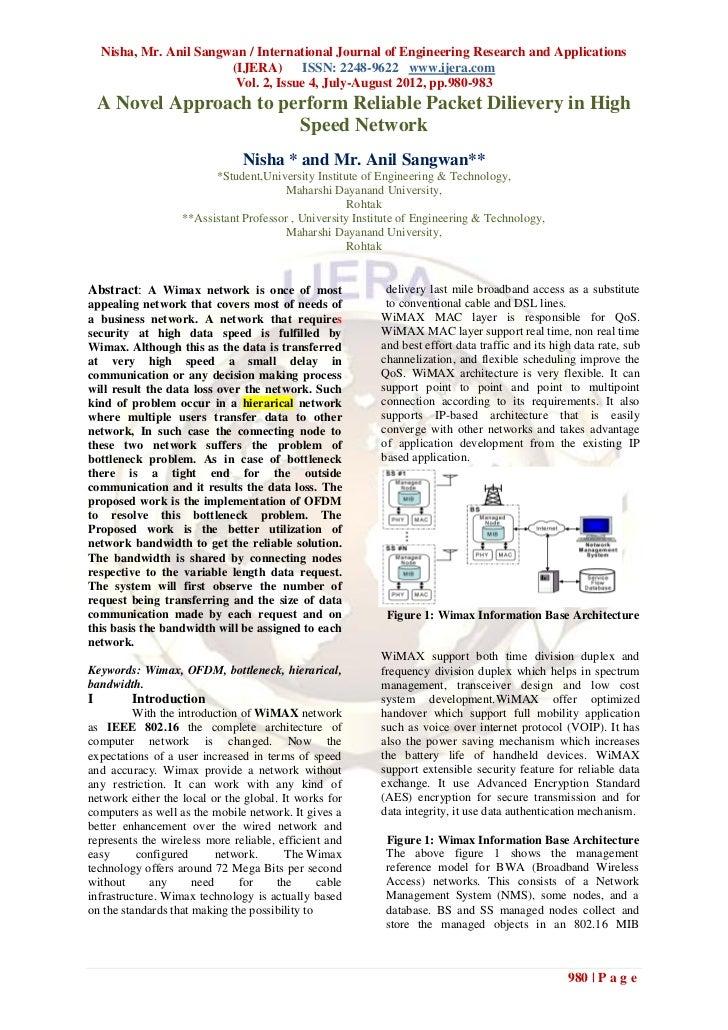 Nisha, Mr. Anil Sangwan / International Journal of Engineering Research and Applications                         (IJERA) I...