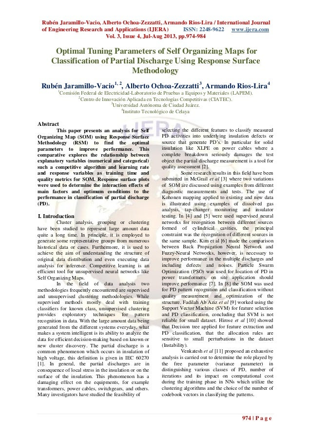 Rubén Jaramillo-Vacio, Alberto Ochoa-Zezzatti, Armando Rios-Lira / International Journal of Engineering Research and Appli...