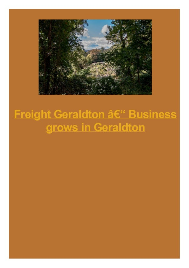 Freight Geraldton – Business grows in Geraldton