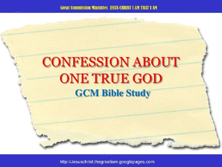 Confession about one true God