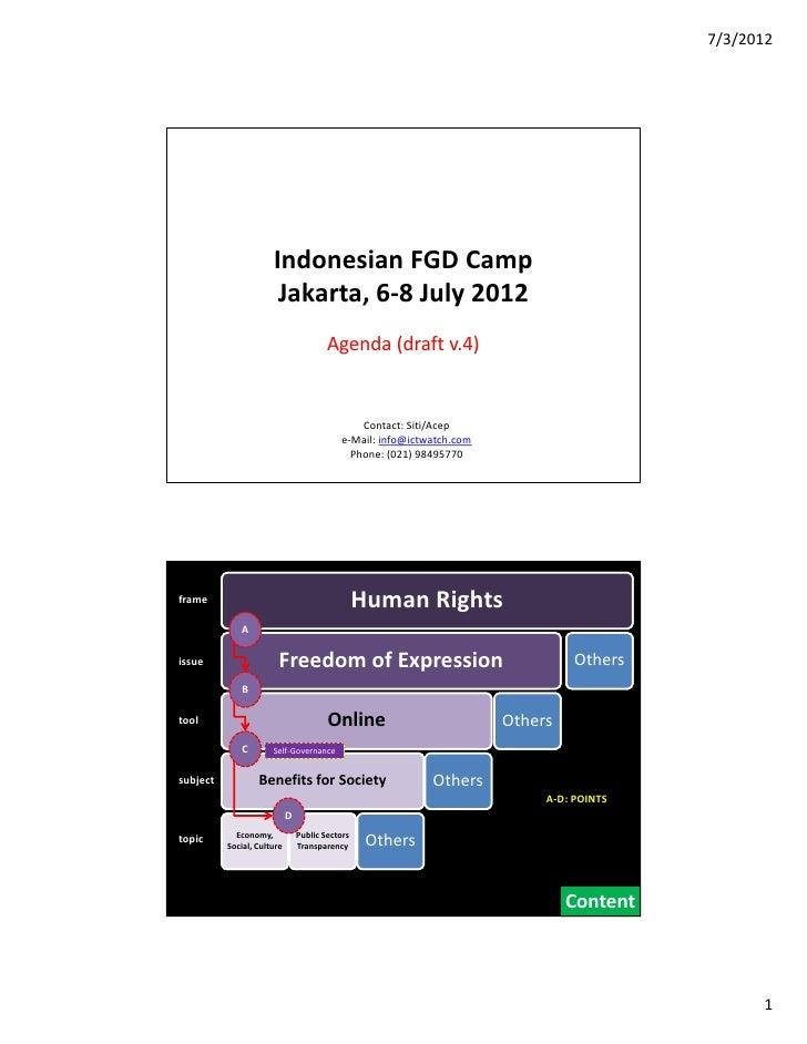 7/3/2012                      IndonesianFGDCamp                       Jakarta,6‐8July2012                           ...