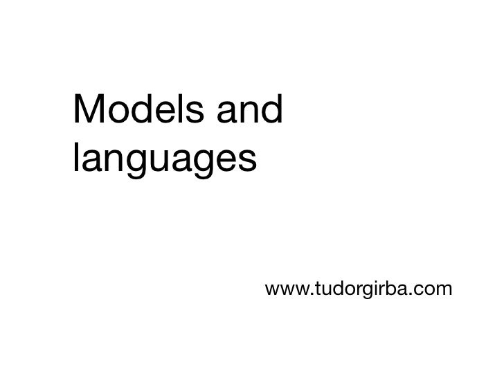 10 - Models and languages
