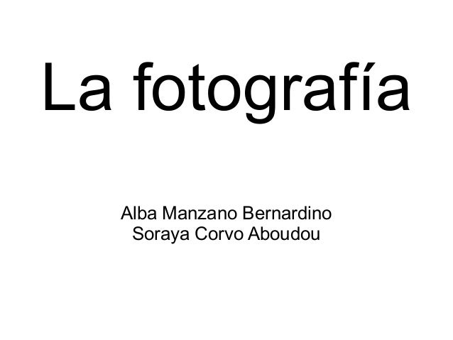 La fotografía Alba Manzano Bernardino Soraya Corvo Aboudou