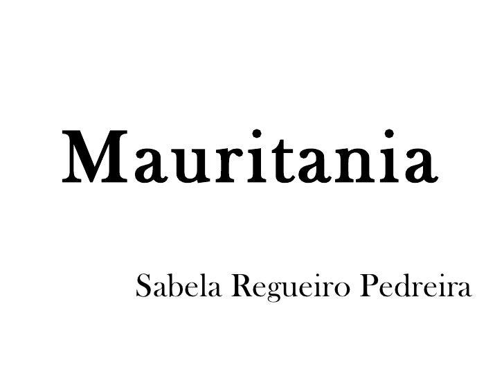 Mauritania Sabela Regueiro Pedreira