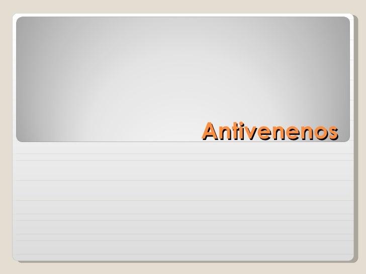 Antivenenos