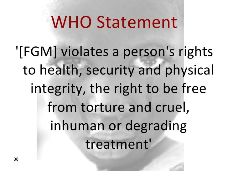 fgm final What is fgm female genital  us doctor is arraigned on federal charges for performing fgm in michigan april 2017: final report and.
