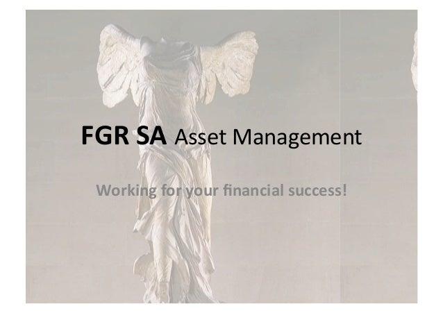 FGR SA Company Presentation