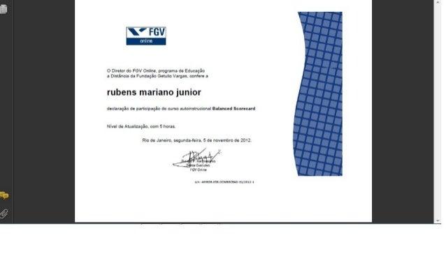 Certificado Fundação Getulio Vargas