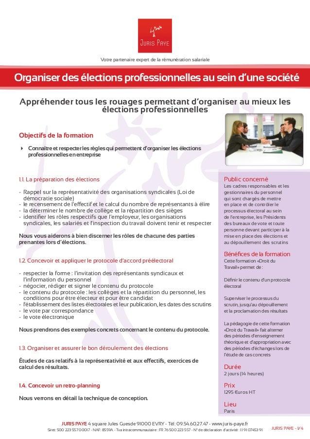 Votre partenaire expert de la rémunération salariale  Organiser des élections professionnelles au sein d'une société  Appr...