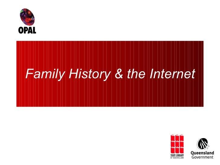 Family History & the Internet