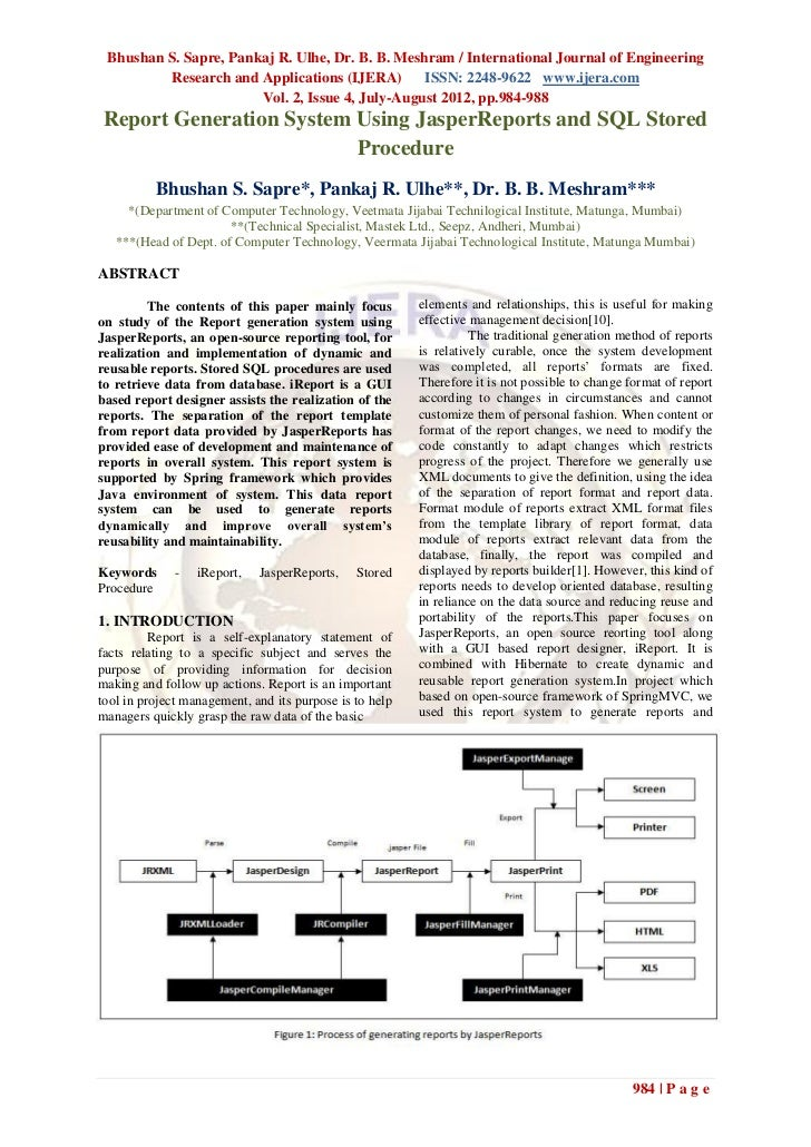Bhushan S. Sapre, Pankaj R. Ulhe, Dr. B. B. Meshram / International Journal of Engineering         Research and Applicatio...