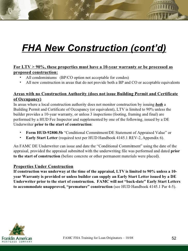 Fha training for loan originators oct 08 for 99a soil treatment