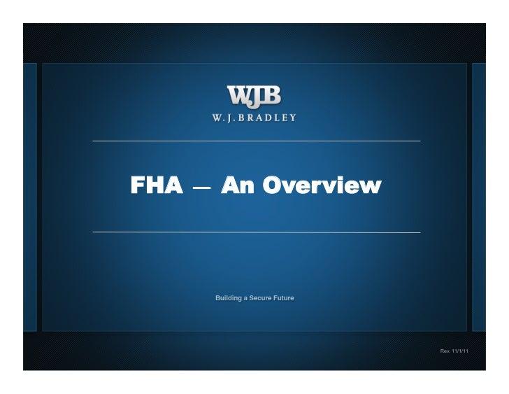 FHA Loan Overview