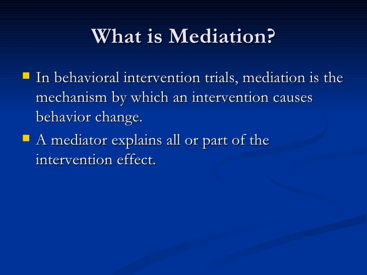 mediation in third party intervention 1 social conflict and the political economy of third-party intervention abstract this paper analyzes how the equilibrium outcome of social conflict between factions, or.