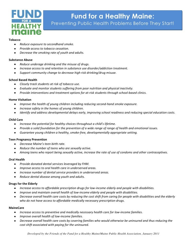 Fund for a Healthy Maine Program Indicators, July 2010