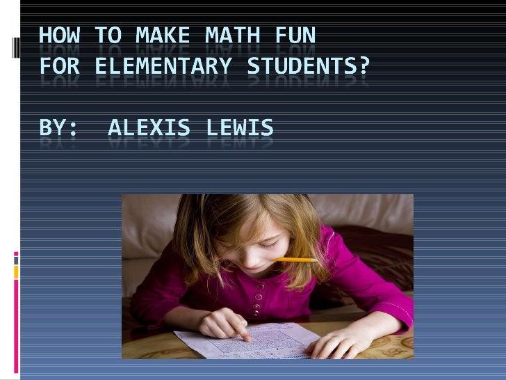 How To Make Math Fun For Kids