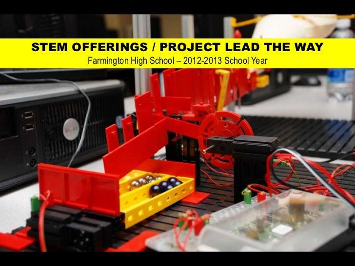 Farmington High School Project Lead the Way Engineering Classes