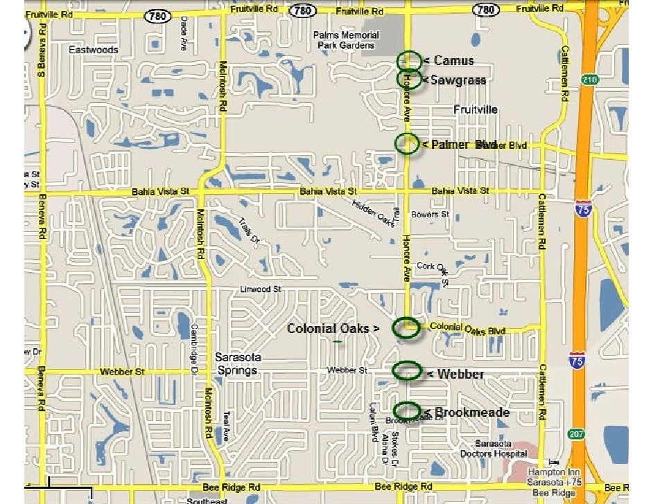 Honore Six Roundabout Locations