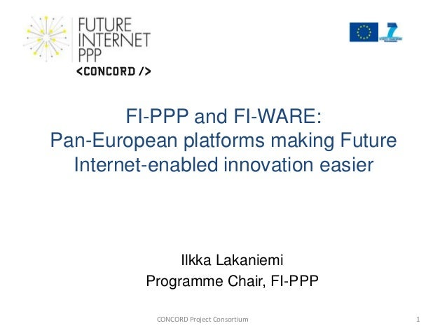 FI-WARE: Pan-European platforms making Future Internet-enabled innovation easier