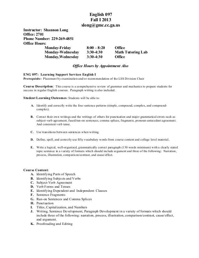 Fi 13 eng 097 night syllabus and assignments