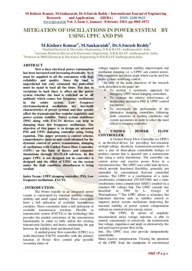 M.Kishore Kumar, M.Sankaraiah, Dr.S.Suresh Reddy / International Journal of Engineering             Research     and Appli...