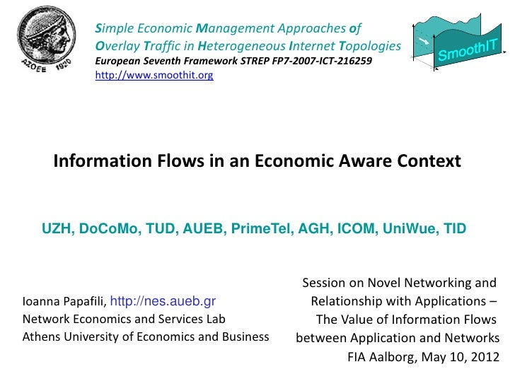 Simple Economic Management Approaches of            Overlay Traffic in Heterogeneous Internet Topologies            Europe...