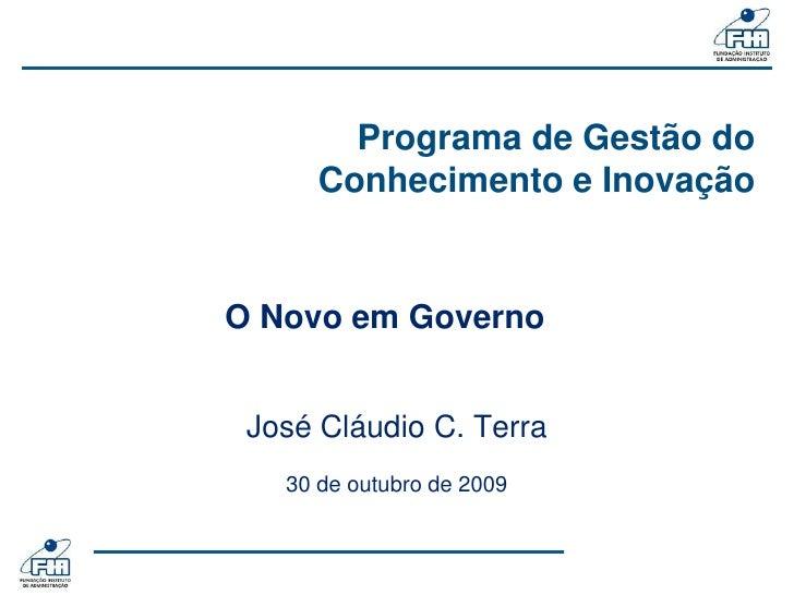 Fia 008   ApresentaçãO Terra   O Novo Em Governo