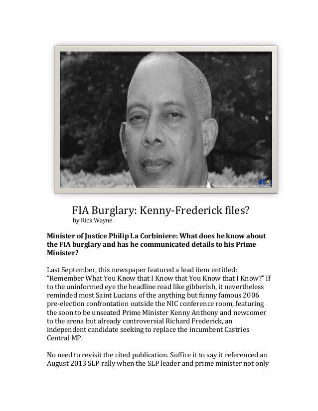 FIA  Burglary:  Kenny-‐Frederick  files?                   ...