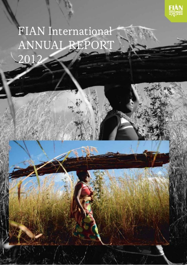 FIAN International Annual Report 2012