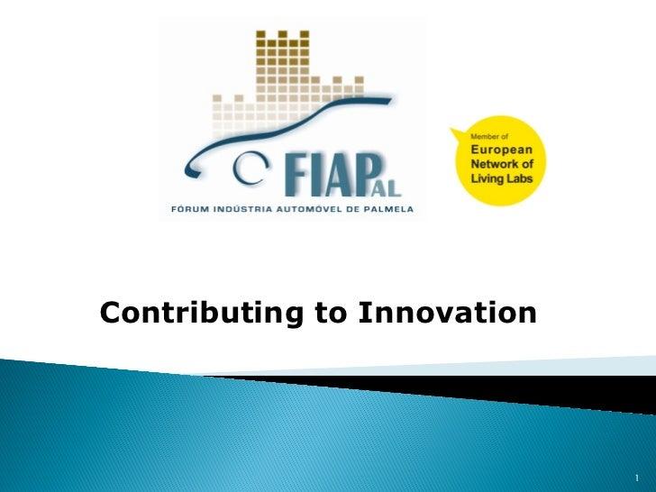 Contributing to Innovation                             1