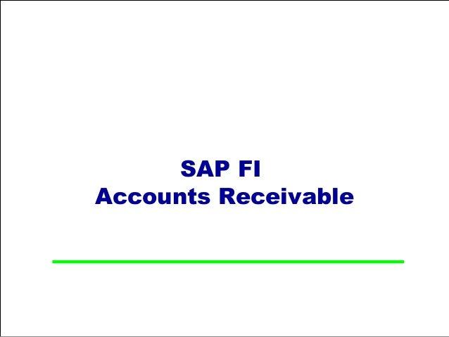 SAP FIAccounts Receivable