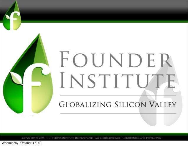 Founder Institute - Presentation