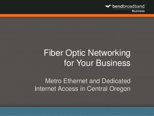 Benefits of Fiber Connectivity for Central Oregon Businesses