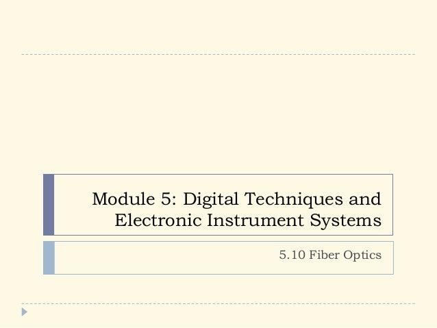 5.10 Fiber optics